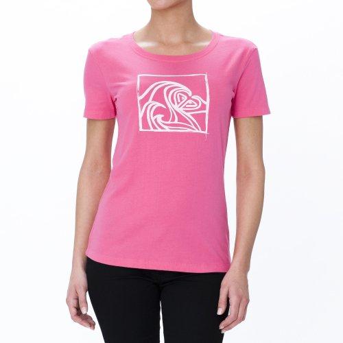 Roxy Damen T-shirt Good Looking, neon pink, 32-34 (XS), XMWJE952V (Pink Shirt Roxy)