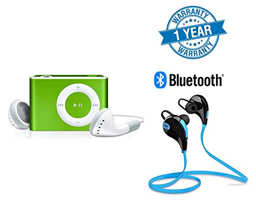 Twogood Stylish Metal Design MP3 Player with TF/SD Card Support great for Outdoors, Gymming and Jogging With Jogger Bluetooth 4.1 Lightweight Wireless Sports Headphones Compatible With Xiaomi Mi, Apple iPhone & iPad, Samsung, Sony, Lenovo, Oppo, Vivo and All Smartphones (1 Year Warranty, Assorted Colour)
