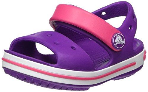 Crocs Leichte Sandalen (Crocs Crocband Sandal Kids, Unisex - Kinder Sandalen, Violett (Amethyst/paradise Pink), 29-30 EU)