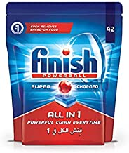 Finish All in 1 Dishwasher Detergent Tablets, Original, 42 Tablets