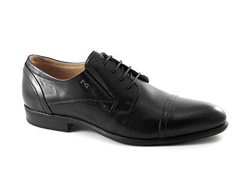 BLACK JARDINS 5101 élégant homme noir cérémonie orteil chaussure derby Nero