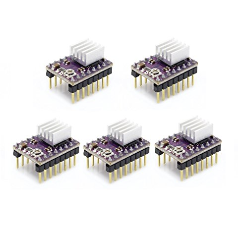 Reliabot 5pcs drv8825 stepper motor driver modulo con dissipatore di calore per stampante 3d