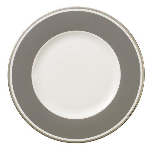 27cm Speiseteller 'Anmut My Colour' aus Premium Bone Porzellan Farbe: Rock Grey