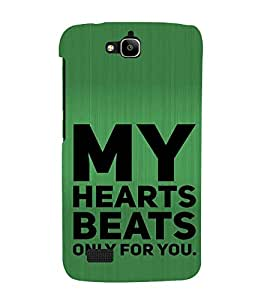 ifasho Designer Back Case Cover for Huawei Honor Holly (Big Hearts Heart Beats Music )
