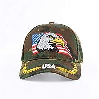 KAIMAO Cappellino da Baseball Berretto da Baseball del Cammuffamento della  Bandiera Americana per Le Donne degli 86f31eba8380