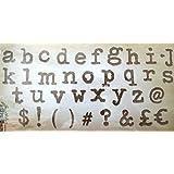 Ellison Europe Sizzix Typo inferior por Tim Holtz UK versión Bigz Die alfabeto, ABS plástico/madera compatible con carb/steel-rule hoja/espuma de expulsión de larga duración, multicolor, XL