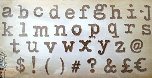 Sizzix alfabeto Typo Tim Holtz Versione UK Bigz Die, Plastica ABS/Carb Compliant legno/steel-rule lama/Long Lasting espulsione Schiuma, Multicolore, XL