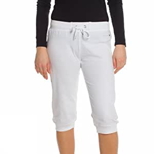 Champion Damen 3/4 SweatPants, white, S, 106324