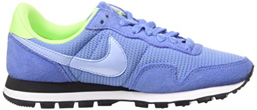 Nike Air Pegasus 83, Chaussures de Running Femme Bleu (polar/aluminum-flash Lime-blk 400)