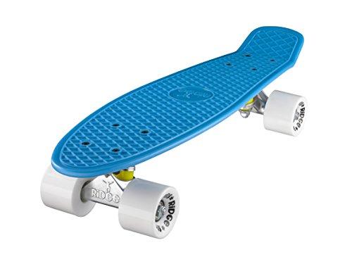 Ridge Skateboard Mini Cruiser, blau-weiß, 22 Zoll, R22