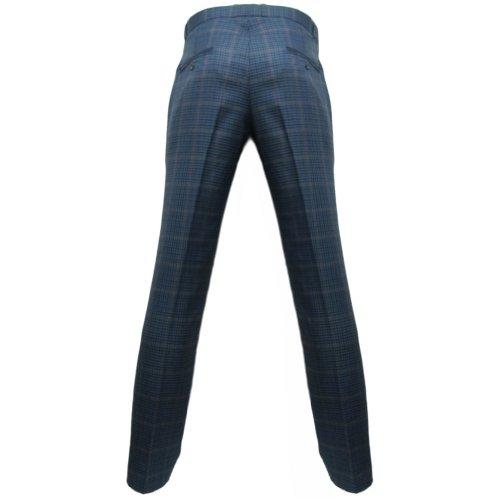 Tweed Sta Prest Blu In Anni Relco Pantaloni Uomo '60 Stile 8wnO0kP