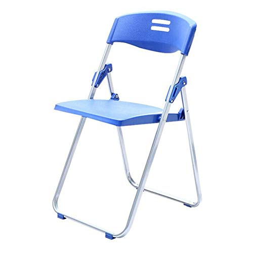 QIDI Chaise Pliante, Chaise de Bureau, Chaise de Formation, Chaise étudiante, métal, Plastique, Simple Moderne Pliable - Multicolore en Option (Couleur : Bleu)