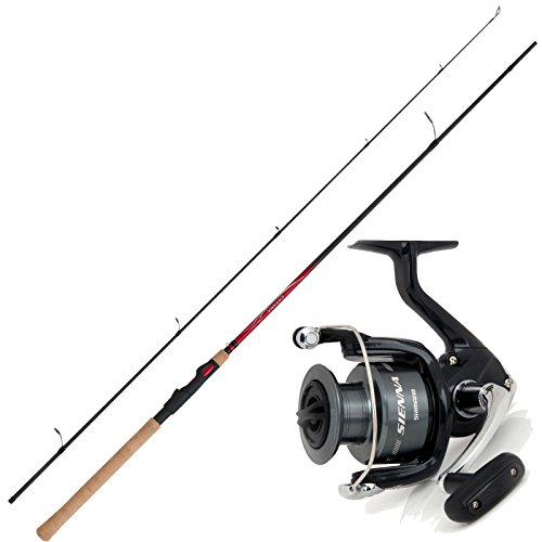 SHIMANO Angelset Hecht Angeln Angelrute Angelrolle Spinn-Combo