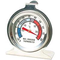 ounona acero inoxidable nevera/congelador termómetro, Inox/Analogique/bi-métal, cocina aparato