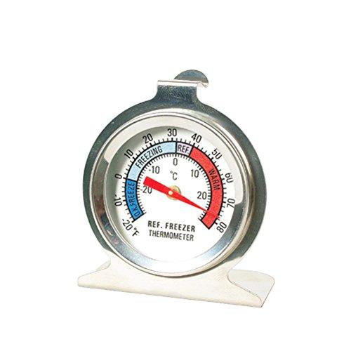 Termometro per frigorifero UEETEK Termometro rotondo per congelatore e frigo da appendere in acciaio