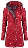 ODYSSEE Damen Softshell Mantel gepunktet Parka Jacke Kapuze Outdoor Übergang, Farbe:rot, Größe:M