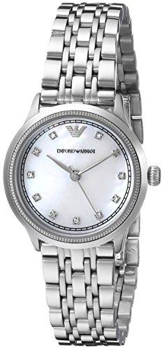 Emporio Armani Damen-Armbanduhr XS Analog Quarz Edelstahl AR1803