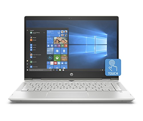 "HP Premium Pavilion x360 14-cd0012nl PC Convertibile Intel Core i5-8250U, 8 GB di RAM, 256 GB SSD, Display 14"" FHD IPS WLED, Argento Minerale"