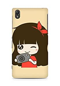 AMEZ designer printed 3d premium high quality back case cover for Sony Xperia Z2 (cute girl camera)