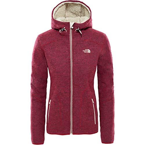 The North Face Red Fleece (THE NORTH FACE Zermatt Full Zip Hoodie Women Größe M Rumba red Heather)