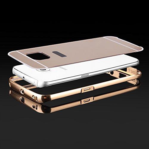 """BUMPER LUXURY + Deckel SPIEGEL für Apple iPhone 6 4,7"""" Handytasche Hülle Cover Case Schutzhülle Tasche (gold) gold"""