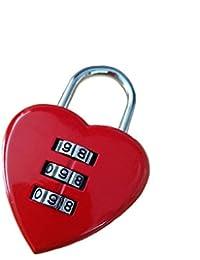 OLIOU - Candado de 3 dígitos para maleta de viaje, diseño de corazón, con