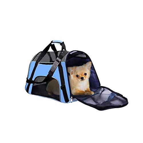 yunhou Trasportino per Cane,Gabbia Pieghevole da Trasporto per Animali Domestici,Traspirante e Confortevole,per Gatti e Cani di Taglia Piccola e Grande,Carico Max 10kg