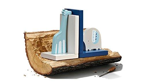 DFHHG® Soporte de libro, bloque de libros para el hogar de los niños creativo librero estantería decoraciones de mesa adornos de animales libro de madera de almacenamiento durable