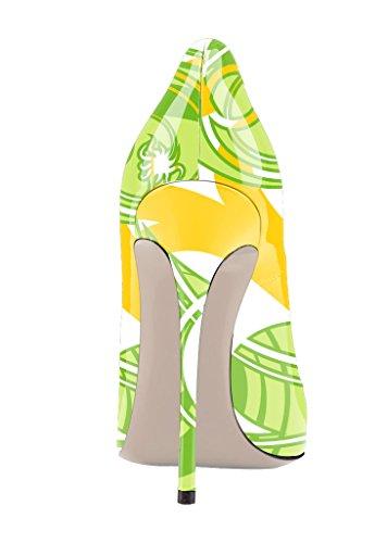 Guoar - Scarpe chiuse Donna Beige (Rattan)