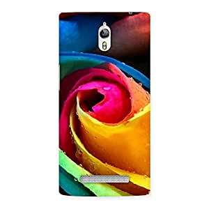 Delighted Rose Droplets Multicolor Back Case Cover for Oppo Find 7