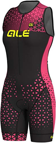Alé Cycling Triathlon Rush Sleeveless Unitard Long Damen Black Flou pink Größe M 2019 Triathlon-Bekleidung