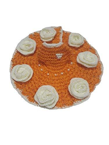 ladoo Gopal Dress with Muffler Flower Dress with Muffler for Thakur ji Size 2 Yellow