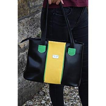 so bunt kann Schwarz sein-Lederhandtasche Henkelhandtasche Damenhandtasche
