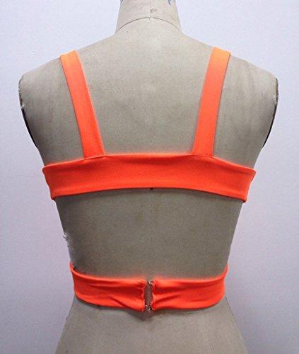 Smile YKK Sexy Bikini Femme Soutien-gorge Lingerie Tops Court Eté Mode Orange