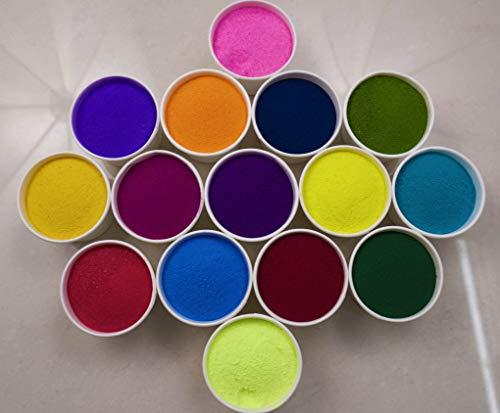 Rangoli Colours Powder Rangoli Colors Powder 250 g in Each Packet -Set of 15 Different Color