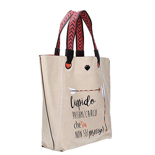 Borsa Shopping Bag Combo Bag Cupido Grey & Orange Grau
