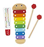 #3: Melissa and Doug Caterpillar Xylophone Musical Toy with Wooden Mallets, multicolor