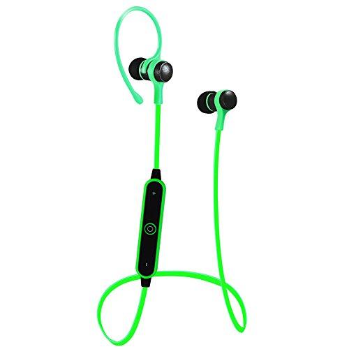 Chengstore Auriculares deportivos inalámbricos con Bluetooth a prueba de sudor y ajustables