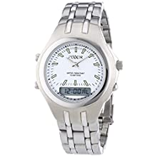Rexxor Men's Quartz Watch with White Dial Display and Silver Metal Strap 242-7904-18