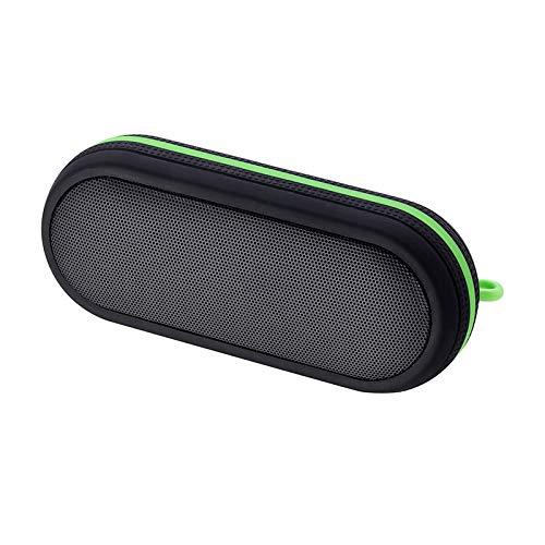 Enceintes Portables Bluetooth,AIni BT-18 Haut-Parleurs Portables Bluetooth Sans Fil Antichute ImperméAbles Pour Sports De Plein Air-Sans Fil Musique(Taille Libre,Vert)