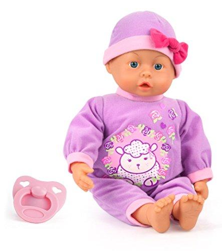 Bayer Design 9386700 - Funktionspuppe First Words Baby mit 24 lauten, 38 cm, lila Preisvergleich