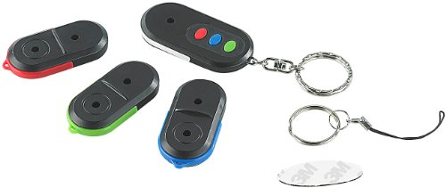 infactory NC-3467 Schlüssel Suchen Piepser: Elektronischer 3-Kanal (4er-Set) (Funk Schlüsselfinder), schwarz
