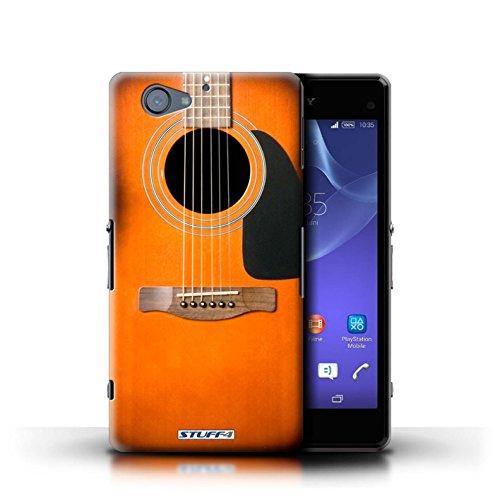 Kobalt® Imprimé Etui / Coque pour Sony Xperia A2 / Rouge Electrique conception / Série Guitare Sunburst Acoustique