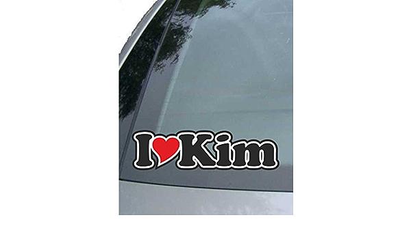 Indigos Ug Aufkleber Autoaufkleber I Love Heart Ich Liebe Mit Herz 15 Cm I Love Kim Auto Lkw Truck Sticker Mit Namen Vom Mann Frau Kind Auto