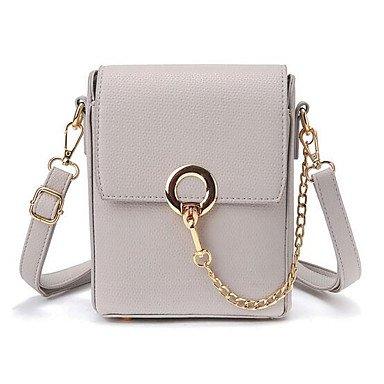 SUNNY KEY-Borsa a tracolla @ Donna Borsa a tracolla PU (Poliuretano) Per tutte le stagioni Casual Cerniera Bianco Rosa Grigio , blushing pink gray