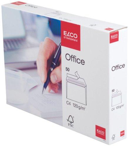 Elco Office C4 - Sobre (C4 (229 x 324 mm), Color blanco)