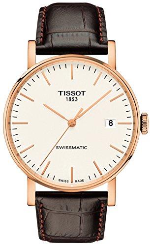 Tissot Herren-Armbanduhr Analog Automatik One Size, weiß, braun