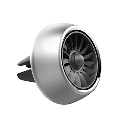 Vicera Auto Duftspender Auto Lufterfrischer für einen frischen Duft im Fahrzeug Duftbaum Alternative Autoduft mit 3 nachfüllbaren Aromen (Silber)