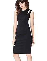 FIND Damen Scuba-Kleid mit Schulter-Cutouts