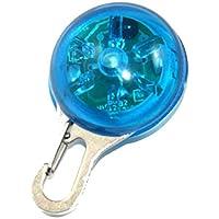 Aofocy Cuello Azul Collar Circular Cachorro Cuello de Perro Mascota Luz de Noche de Seguridad Led